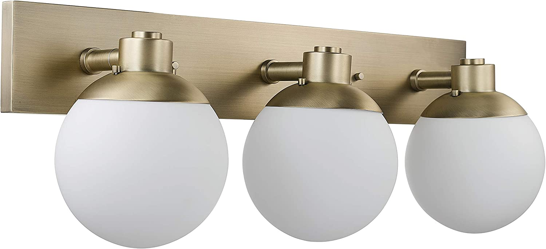 Rivet Modern Wall Sconce, 10 H, Brass