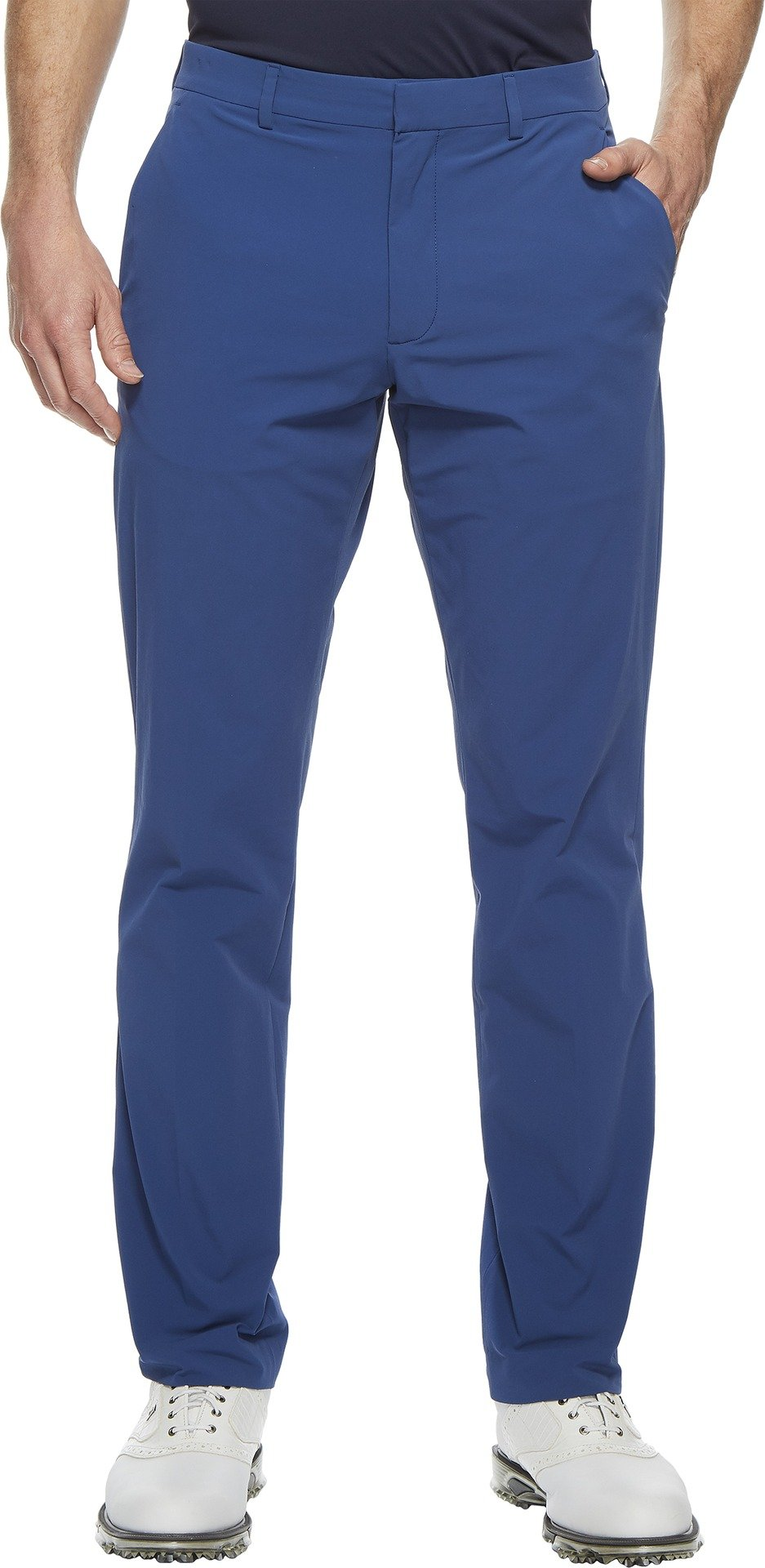 Perry Ellis Men's Slim Fit Solid Stretch Tech Chino Pant, Bright Sapphire, 38W X 32L