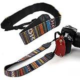 SODIAL (R) Vintage Camera tracolla per DSLR Nikon Canon Sony Panasonic