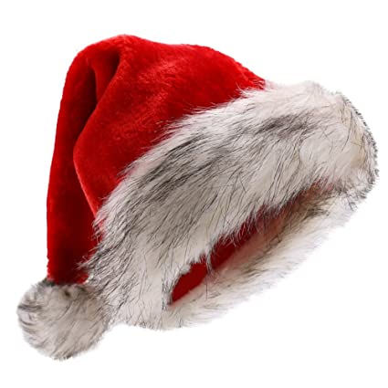 Image Unavailable. Image not available for. Color  Beurio Deluxe Plush Santa  Hats b385f55f1744
