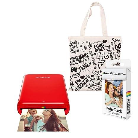 Polaroid Zip Impresora de Fotos Inalámbrica (Rojo) Kit de ...