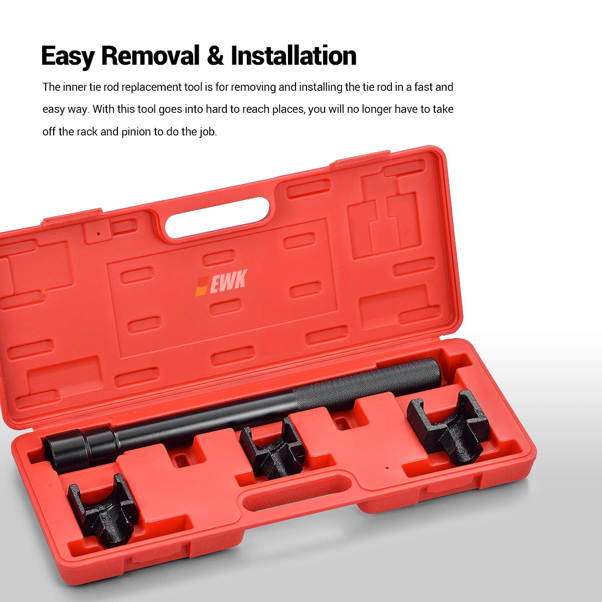 EWK Dual Inner Tie Rod Tool Removal Set with 3 Adapters 1-3/16'' 1-5/16'' 1-7/16'' for Ford Chrysler GM by EWK (Image #2)