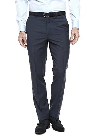 Caramelo, Pantalón De Traje Regular, Hombre · Azul Oscuro ...