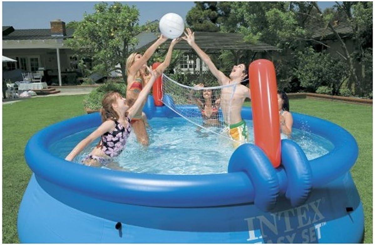 Juego de voleibol y baloncesto Intex, multicolor, para piscinas ...
