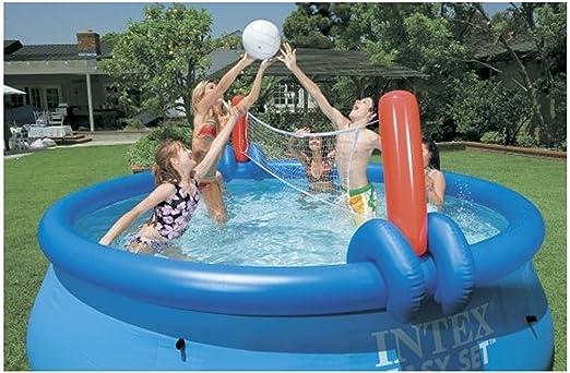 Juego de voleibol y baloncesto Intex, multicolor, para piscinas fáciles de Ø 457 - Ø 549 cm: Amazon.es: Jardín