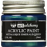 Prima Marketing 963170 Finnabair Art Alchemy Acrylic Paint, 1.7 fl. oz, Metallique Emerald Green