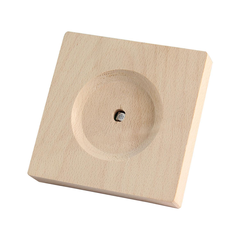 Petite taille Pawaca Socle en bois pour bouteille temp/ête support de lampe LED en cristal ou verrerie dart Avec c/âble USB