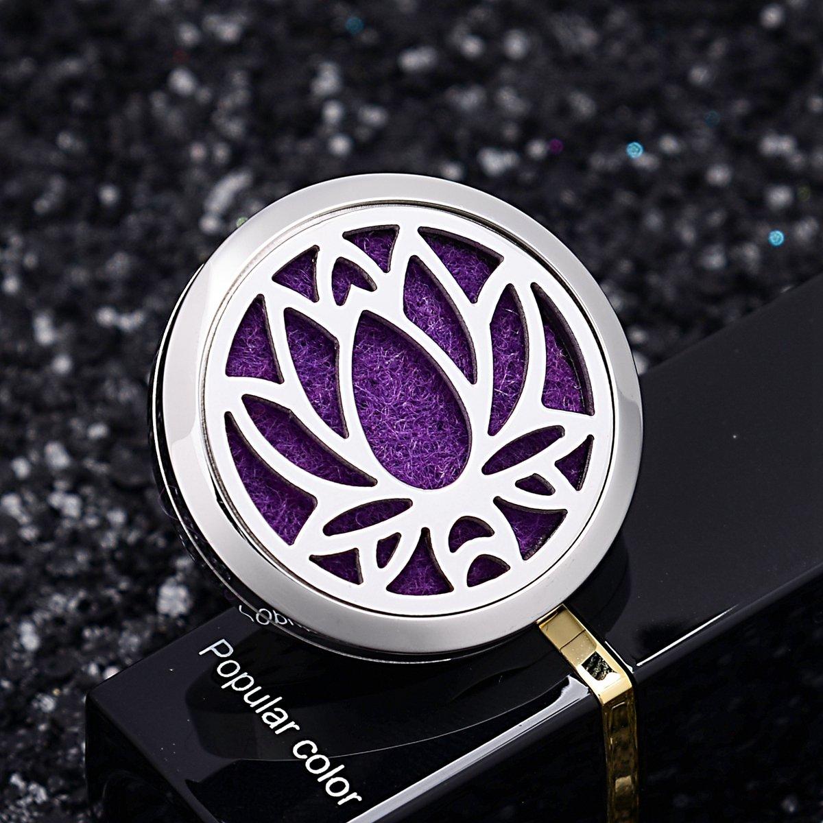 Diffuseur creux en acier inoxydable aromatique collier de voiture Lotus  30mm-1 QX AA00Q0AC47 e62bbdc028b