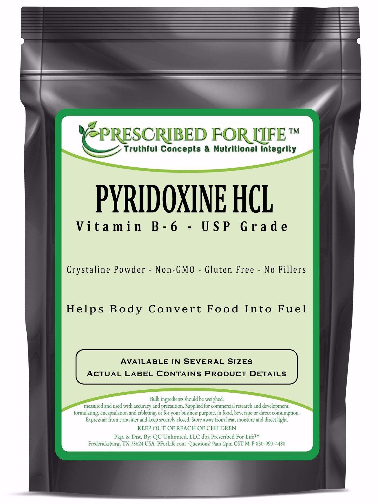 Pyridoxine HCL - USP Food Grade Vitamin B-6 Powder, 1 kg by Prescribed For Life