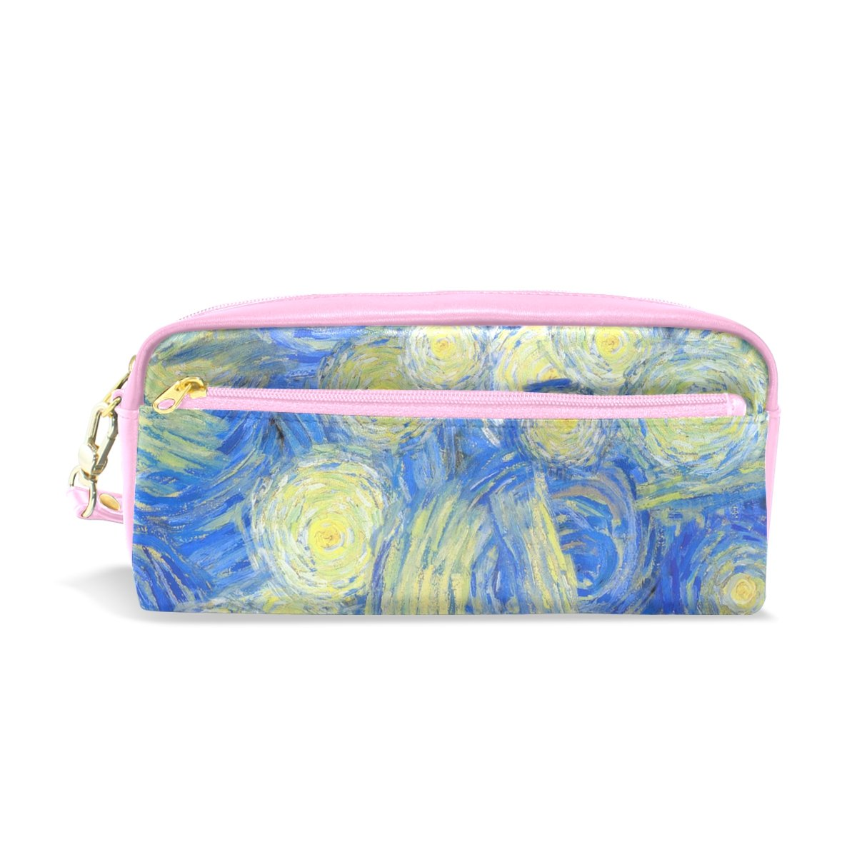 My Little Nest Colorful Oil Paints Print Cosmetic Makeup Bag Pencil Case Multi Function School Office Organizer Bag with Zipper Closure