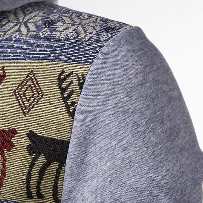 Blusa con Capucha de Manga Larga con Estampado de Bolsillo en Invierno de Estilo Nacional de otoño para Hombre: Amazon.es: Ropa y accesorios