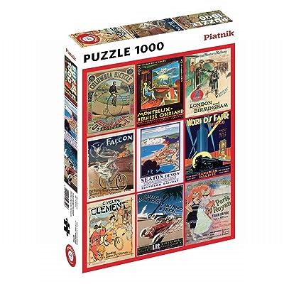 "Piatnik ""Transport Poster Puzzle Jigsaw (1000 Piece): Toys & Games"