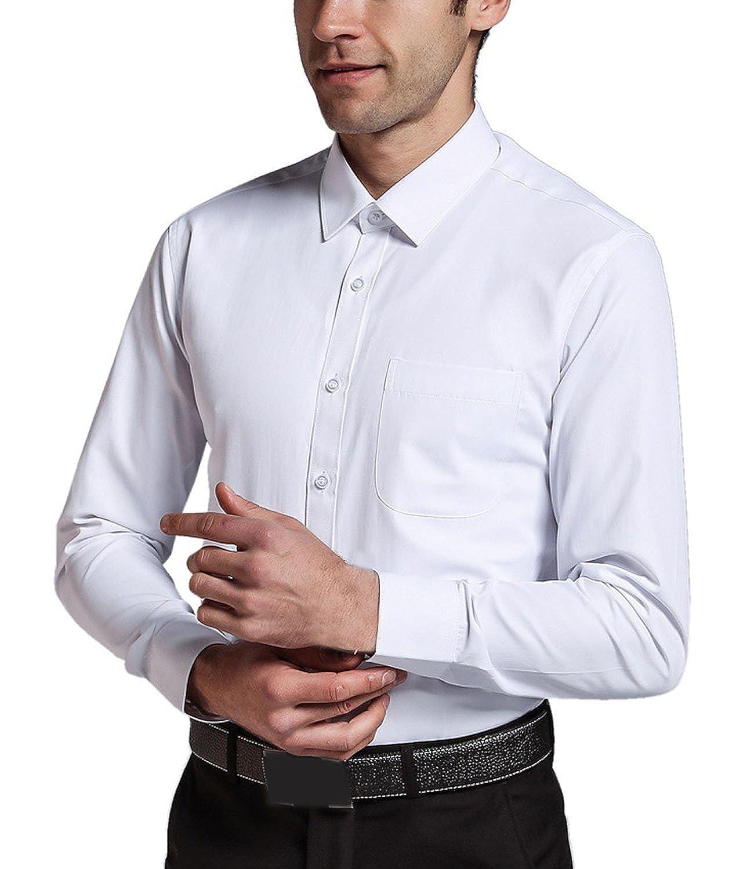Nidicus Men Regular Fit Solid Button Down Long Sleeve Shirt Textured
