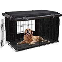 HONEST OUTFITTERS Dog Crate Cover 36'' Dog Kennel Cover for Medium Dog, Heavy Duty Oxford Fabric,with Double Door…