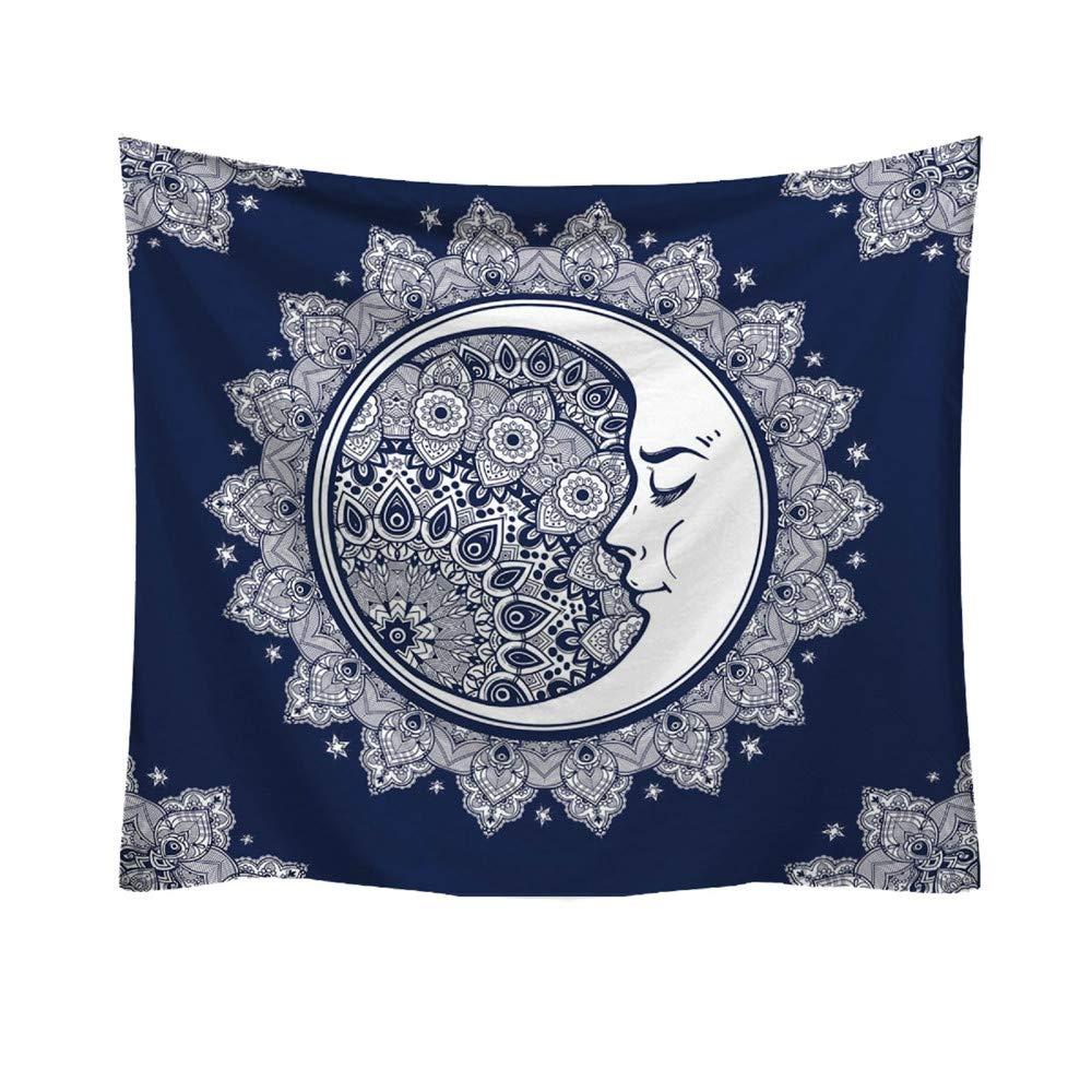 Tuscom Popular Handicrafts Round Tapestry Fashion Pattern Fresh Style Beach Throw Tapestry Wall Hanging Hippy Boho Gypsy Cotton Tablecloth, Round Yoga Sheet (8 Style 95x73cm) (E)
