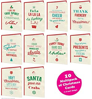 Assorted Funny Christmas Card Pack Hallmark Bundle Of 5 Amazon