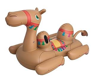 Bestway 41125Gonfiabile mare cavalcabile cammello, Multicolor, 221 x 132cm