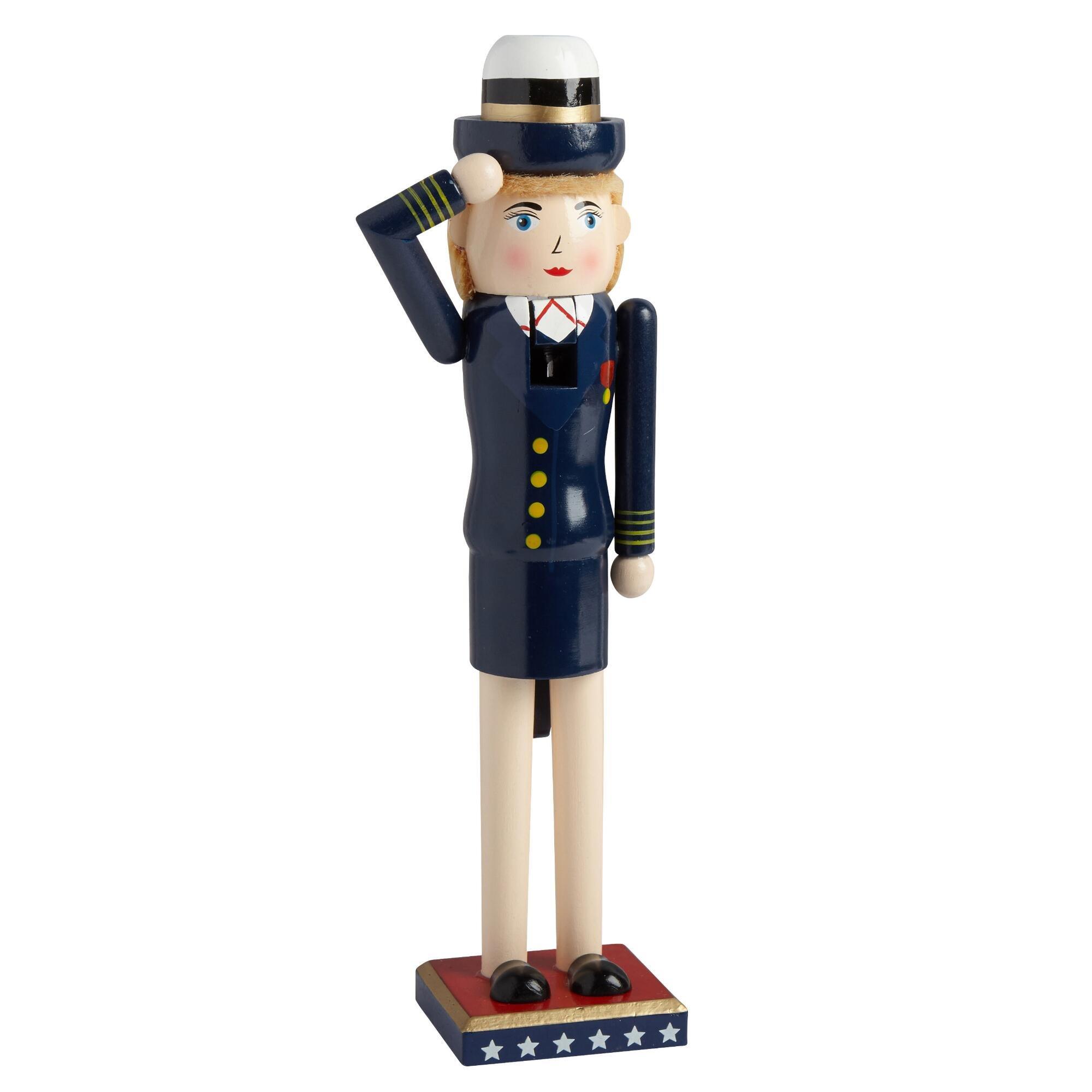 """15"""" At Attention Navy Nutcracker"""