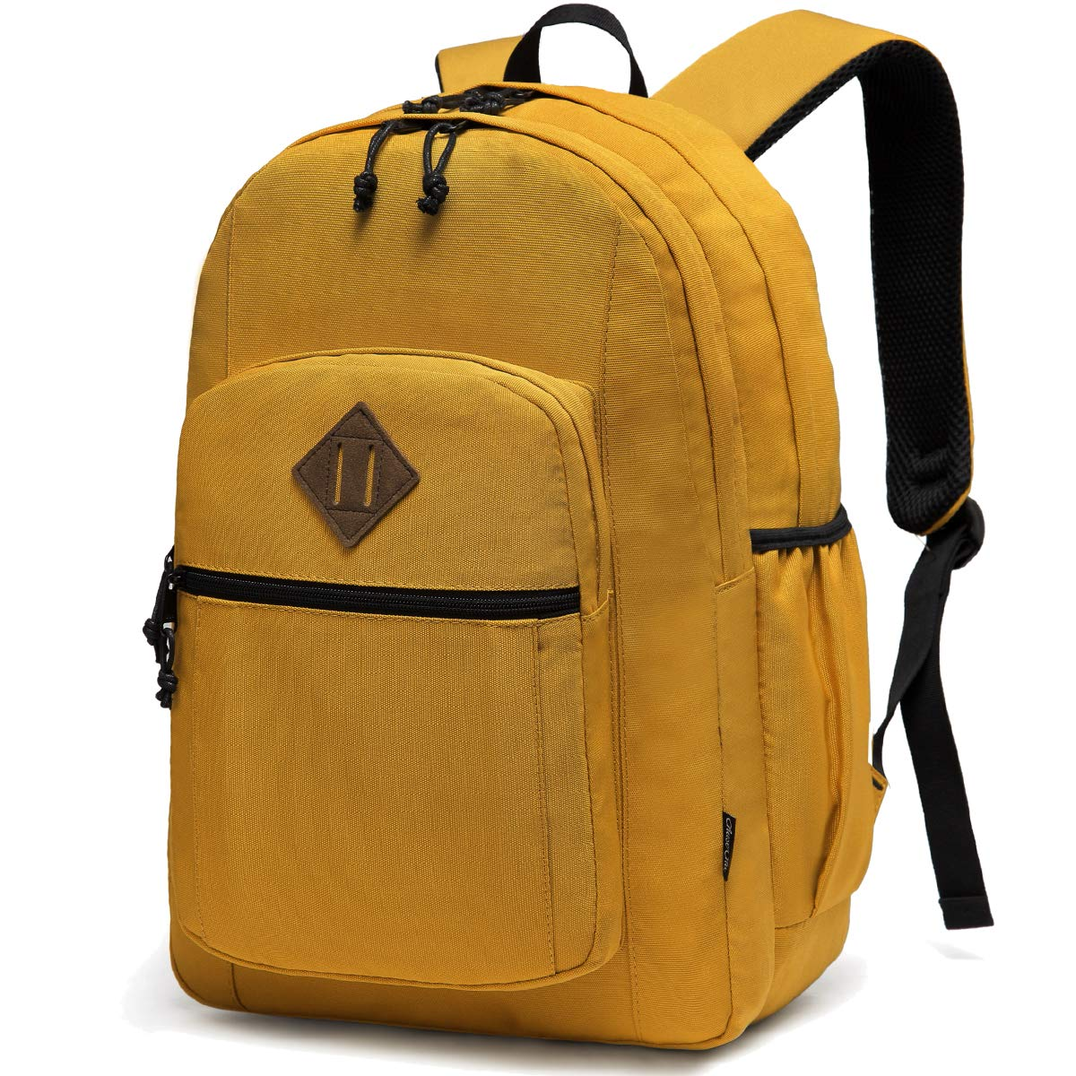 School Backpack for Teens,Chasechic Water-Resistant Classic Lightweight College Bookbag for Women Travel Rucksack Yellow by Chase Chic