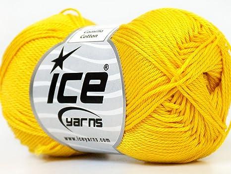 Lot de 6 madejas hilos Camila algodón de hielo (100% algodón ...
