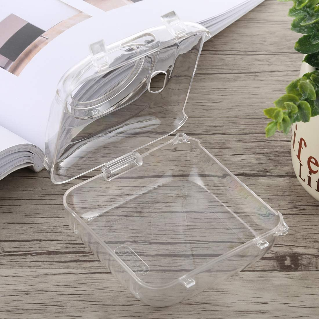 Color : Transparent Transparent Goodao Protective Crystal Shell Case with Strap for PAPERANG Printer