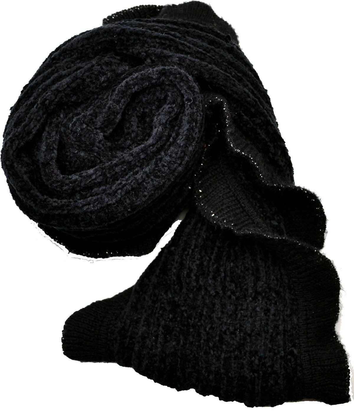 Charter Club Womens Infinity Chenille Scarf (Black)