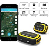 GPS Tracker, No Monthly Fee Real Time GPS Tracker goTele Off-grid GPS Tracking Gear No Required Network Tracking Device/Outdoor, Hiking, Hunting, Children and Pets Trackers (2 Packs)