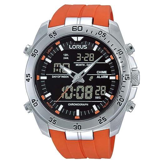 Lorus Reloj Analógico-Digital para Hombre Correa en Silicona RW621AX9: Amazon.es: Relojes