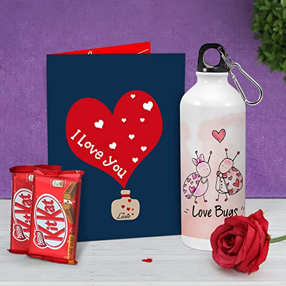 Tied Ribbons Valentines Day Gift For Wife Husband Girlfriend Boyfriend Girls Boys Valentines Special Printed Sipper Kitkat Chocolates Faux Red Rose And Greeting Card Amazon In Grocery Gourmet Foods