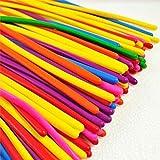 logei® 100pcs globos modelado mágico globos coloridos globos Deco, qualatex, globos para el cumpleaños, boda, fiesta, color al azar