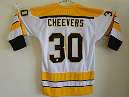 new product cc739 be390 GERRY CHEEVERS SIGNED AUTO BOSTON BRUINS WHITE JERSEY JSA ...