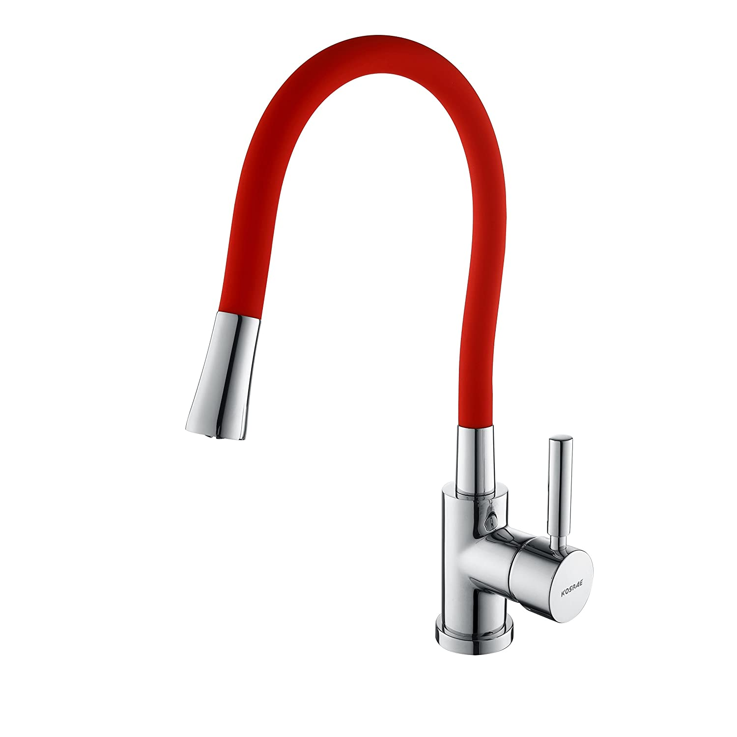 Red Rotating Kitchen Faucet-Cold/Hot 360 Degree Rotatable Faucet-Kosrae