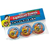 Lightload Towels The Compact Ultra Soft Multi Use Fabric .5 oz Quick Dry Waterproof Packaging Super Absorbent Outdoor Travel Camp 3 Pack 12x24