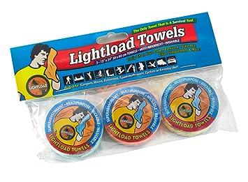 La toalla multifunction compacta reusable, biodegradable, pesa solo 16 gramos, secado rápido, superabsorbente, antibacteriana, suave,-3 paquetes 30x60cm ...