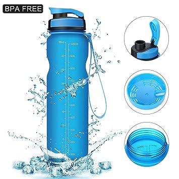 Amazon.com: msdada deportes botella de agua, 50Oz/1 litro ...