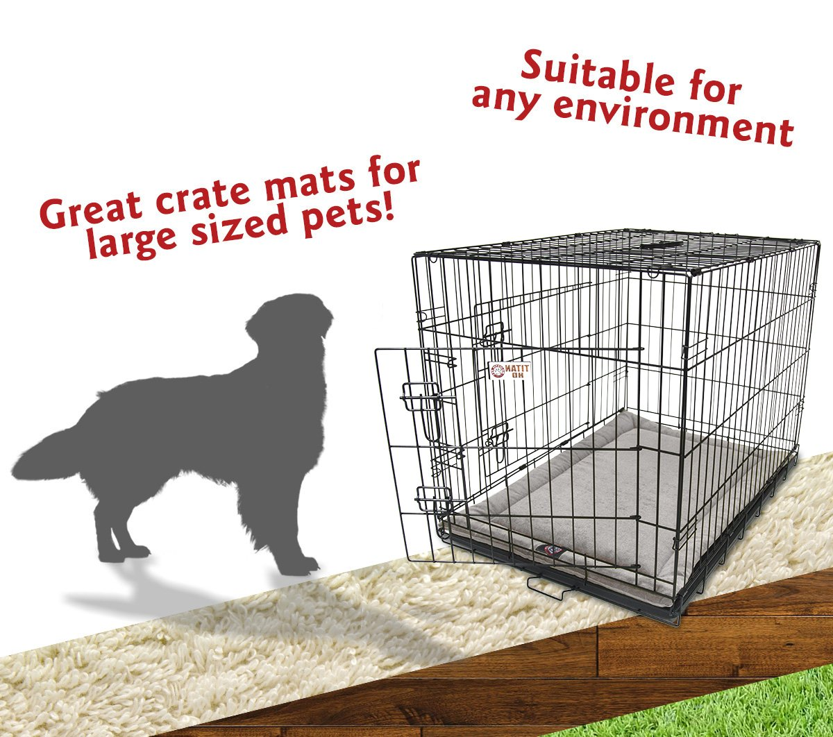 42''  Villa Vintage  Crate Dog Bed Mat By Majestic Pet Products by Majestic Pet (Image #5)