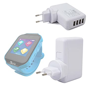 DURAGADGET Chargeur Secteur USB 4 Ports pour Gulli Watch/Kurio Watch Montre connectée sans Fil