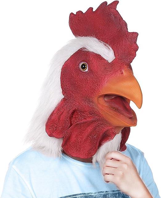 Disfraz de Halloween Animal vestido de goma máscara de gallo más ...