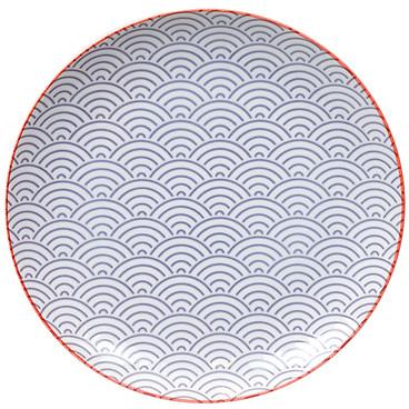 Tokyo Design Studio Starwave Dinner Plate - Large Wave - Purple/Red at Amara