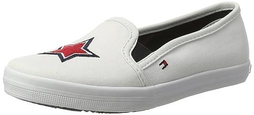 Tommy Hilfiger S3285ammie 22d, Zapatillas para Niñas, Blanco (White 100), 36 EU: Amazon.es: Zapatos y complementos
