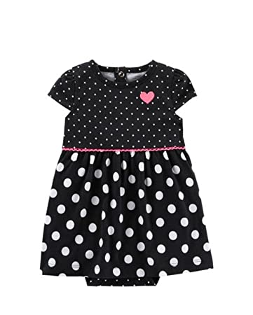 e8595c7e7 Image Unavailable. Image not available for. Color: Child Of Mine Baby Girl  1pc Black Dot ...