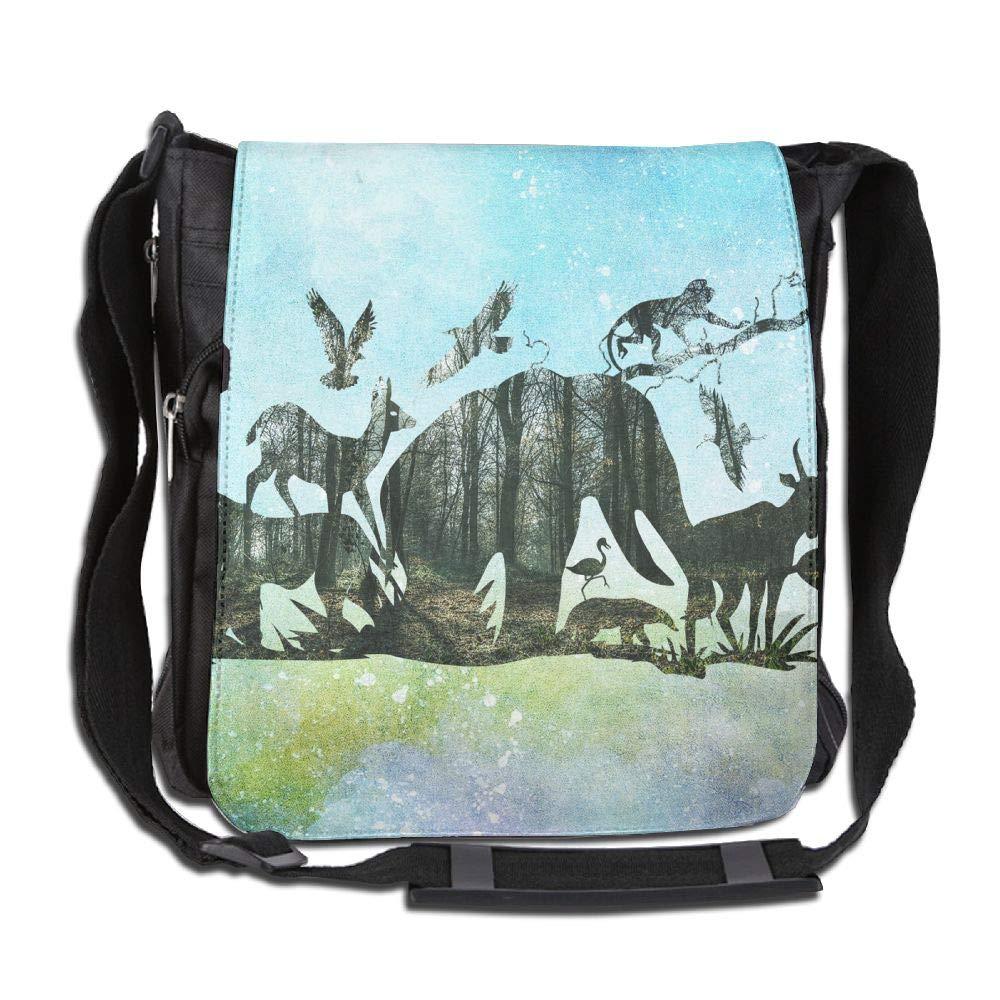 SARA NELL Messenger Bag,wild Animals Elephant,Unisex Shoulder Backpack Cross-body Sling Bag