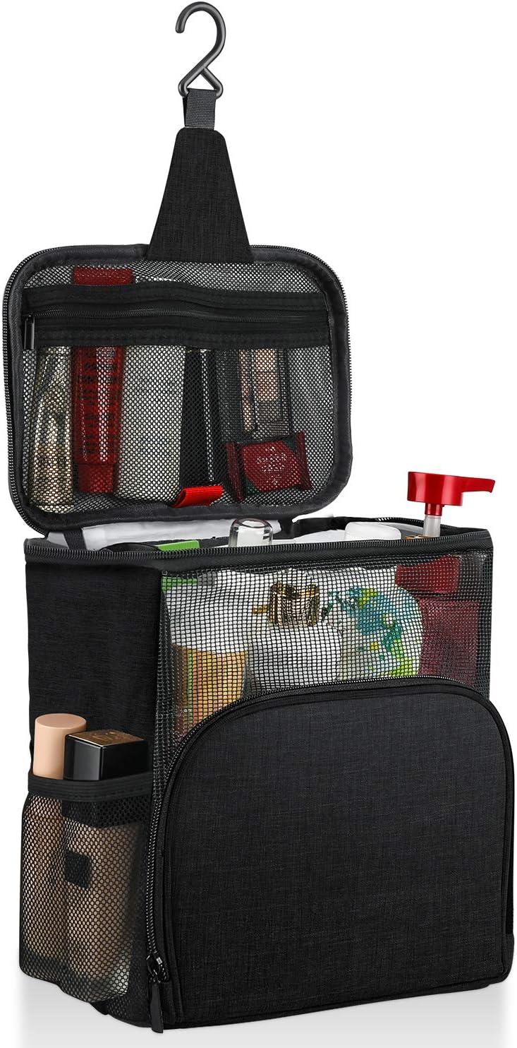 MOICO Travel Toiletry Bag Hanging Toiletry Bag for Men Women Portable Travel Organizer Kit Makeup Shaving Bag, Full-Size Bottle Compatible for Shampoo, Body Wash, Bathroom Shower