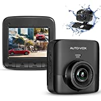 Auto Vox D5PRO Dual Dash Cam with 1520P Car Dashboard Camera Recorder, Built-in Super Capacitor,Two Ways Installation,140 Wide Angle, G-Sensor, Motion Detect