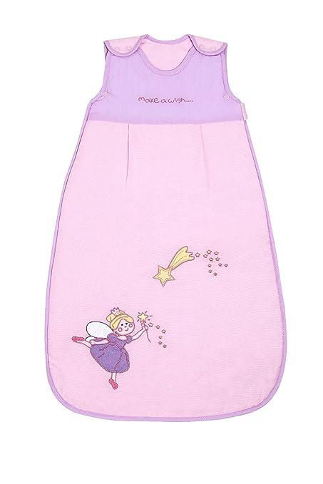 Slumbersac de verano para bebé saco de dormir 0.5 Tog - Colour rosa diseño de hada