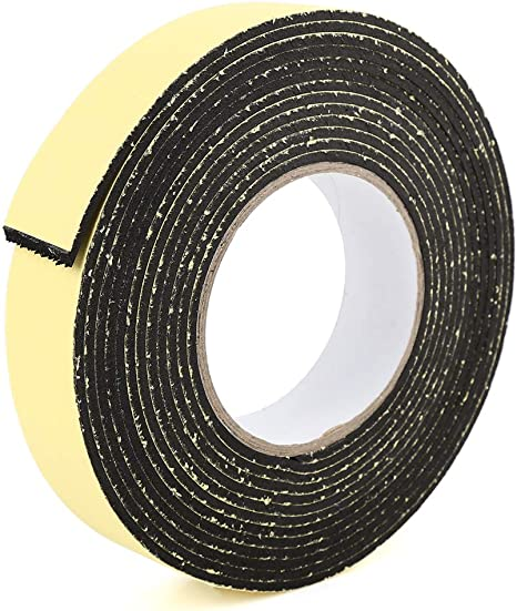 X AUTOHAUX Weather Stripping Tape Foam Insulation Single Side Adhesive 16ft x 1 Inch x 3//25 Inch
