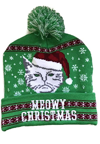Greensource Meowy Christmas Beanie Winter Adult at Amazon Men s ... e7eddf783a1