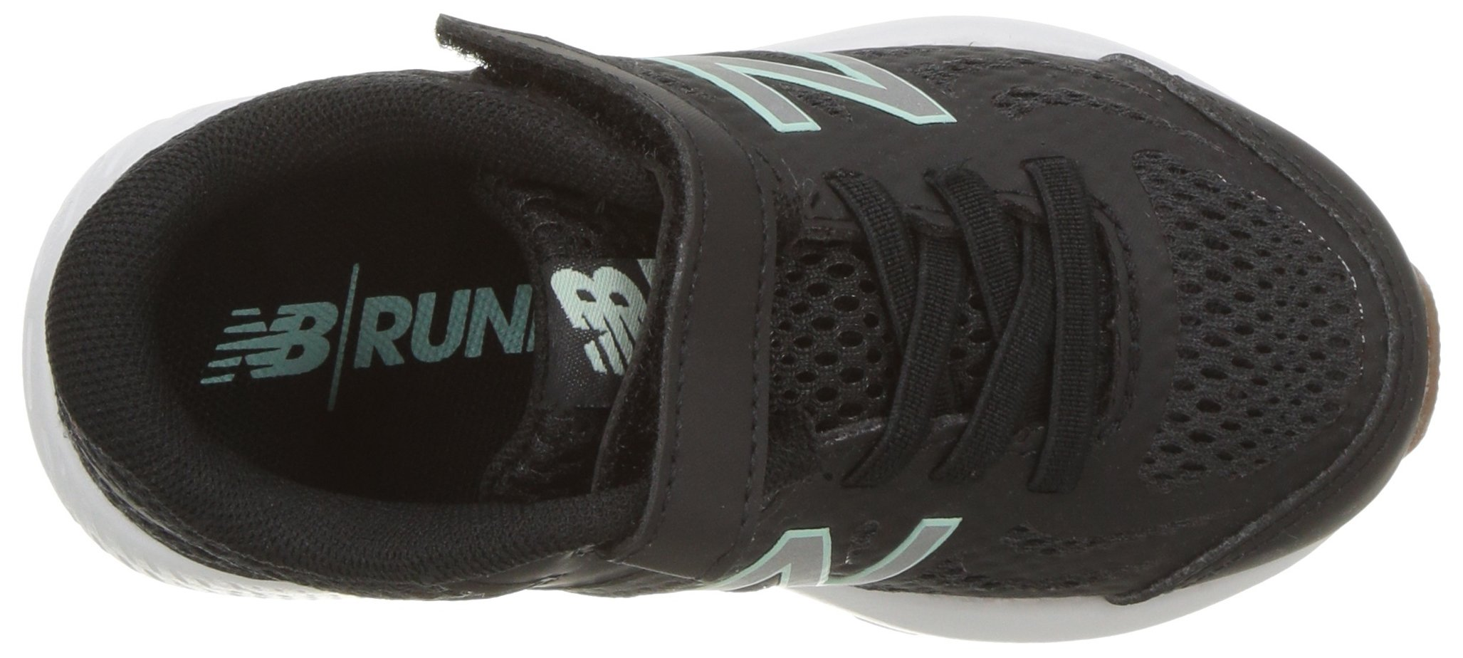 New Balance Girls' 519v1 Hook and Loop Running Shoe Black/Seafoam 2 M US Infant by New Balance (Image #8)