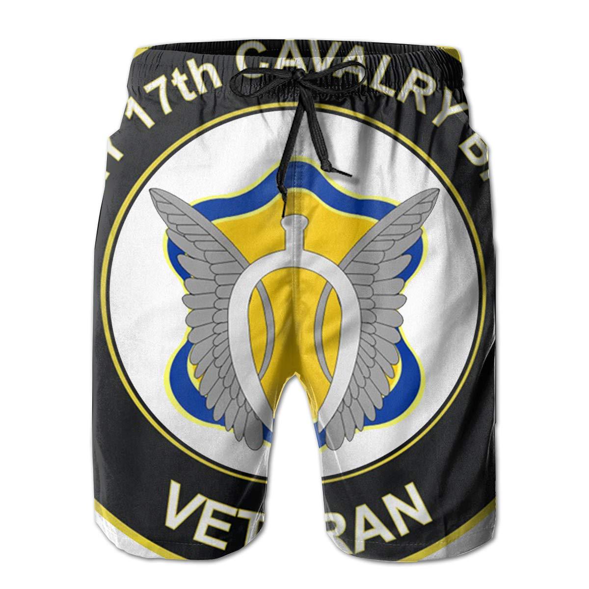 Reality And Ideals U.S Army 17th Cavalry Brigade Veteran Mens Swim Trunks Board Shorts