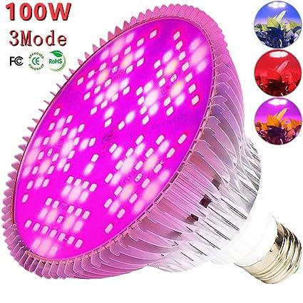 MILYN Bombilla LED de crecimiento regulable, 100 W, espectro ...